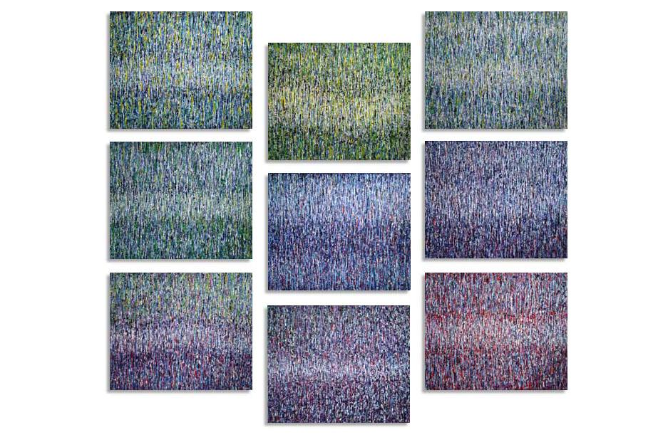 Rythmes modulables (9 panneaux de 46x38 cm)